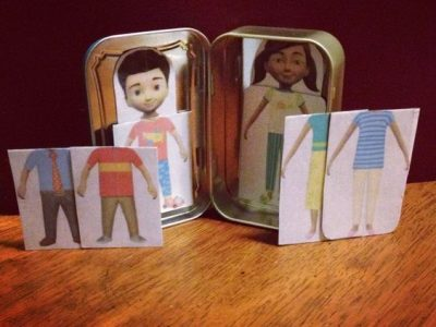 Caleb and Sophia paper dolls